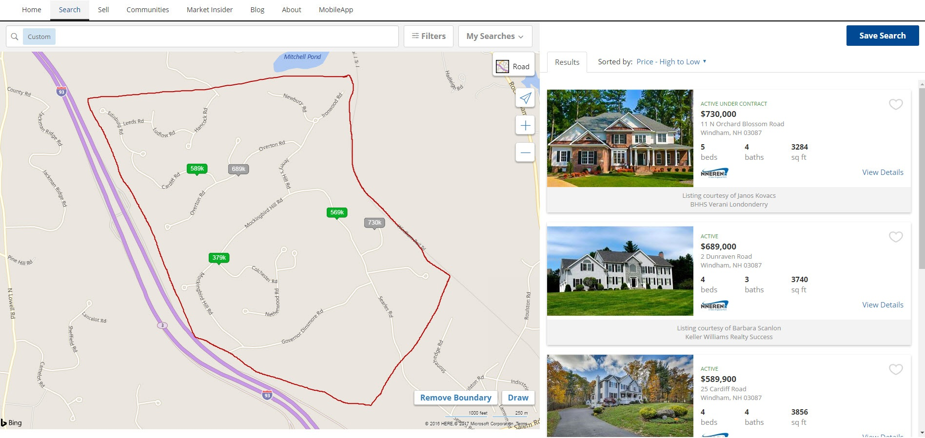 Map Search screen capture