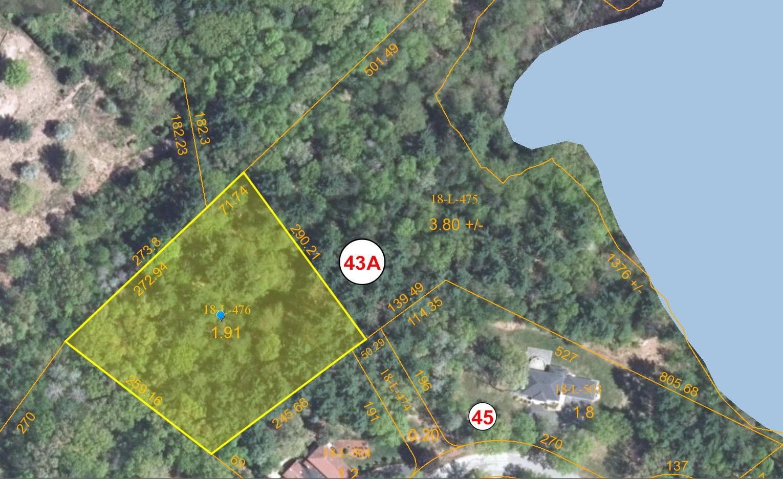 aerial plot plan - 43B Woodvue