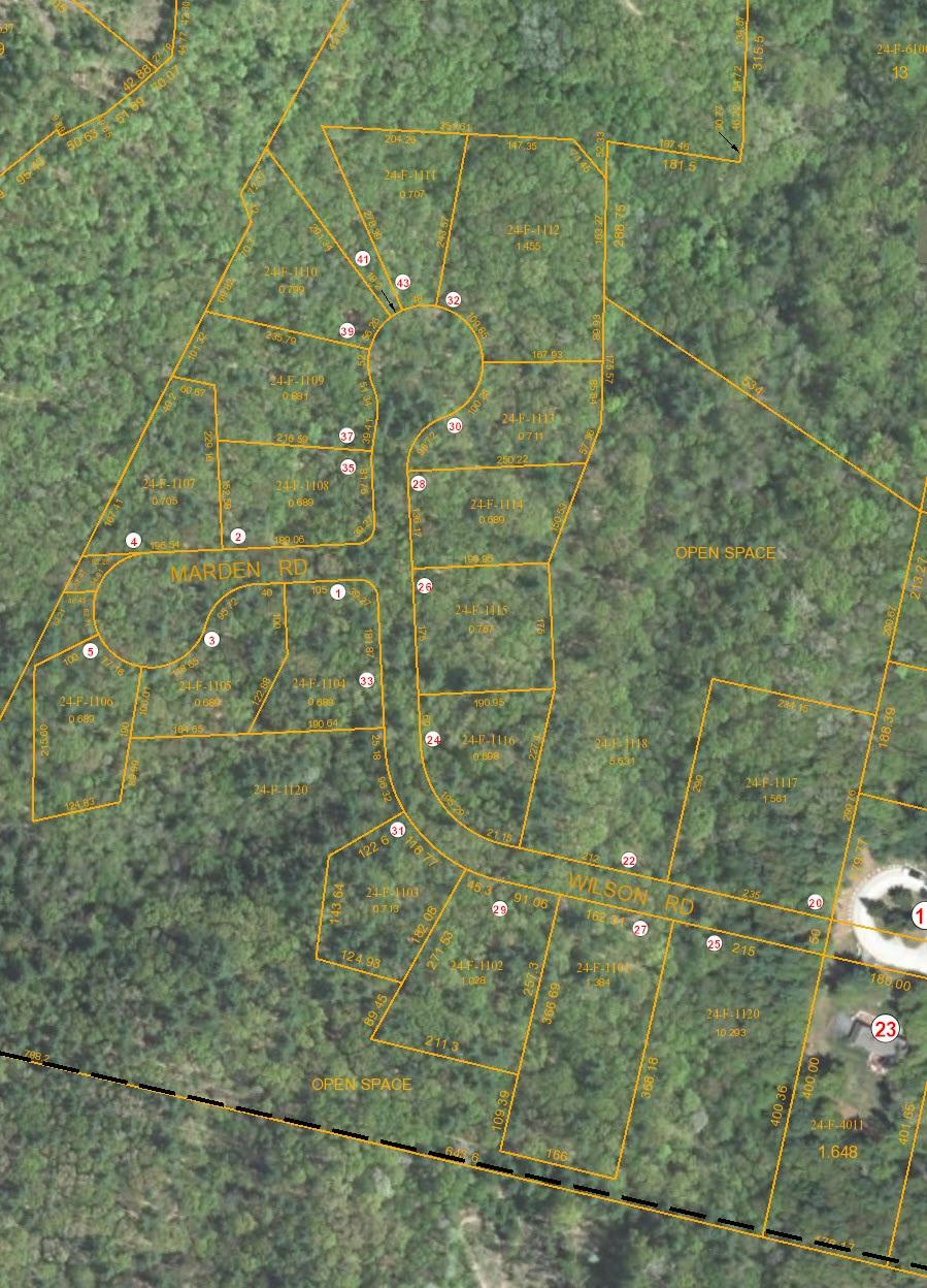 aerial subdivision plan Granite Woods