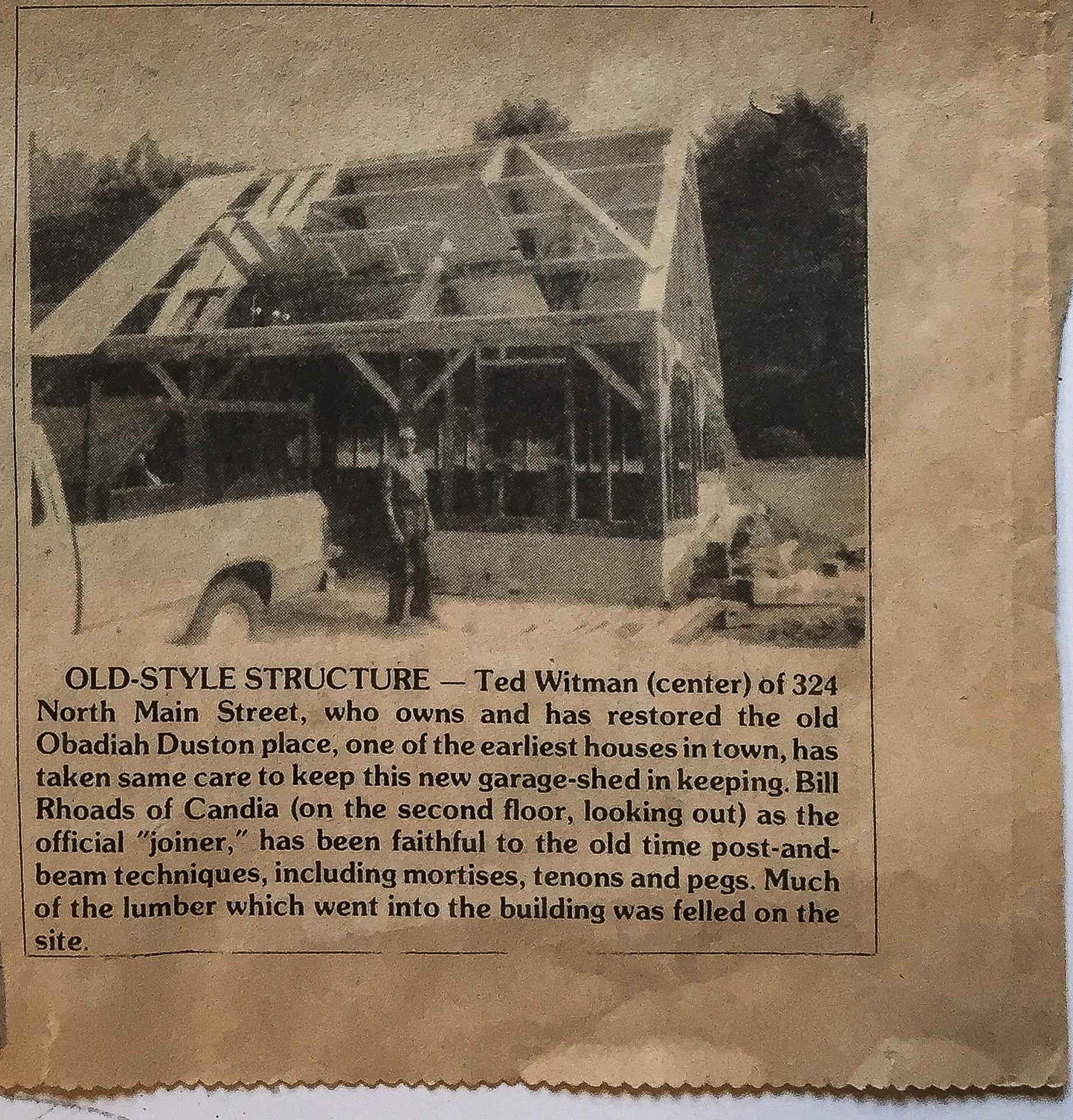 Barn - 324 N Main St - Salem Observer - June 26 1986