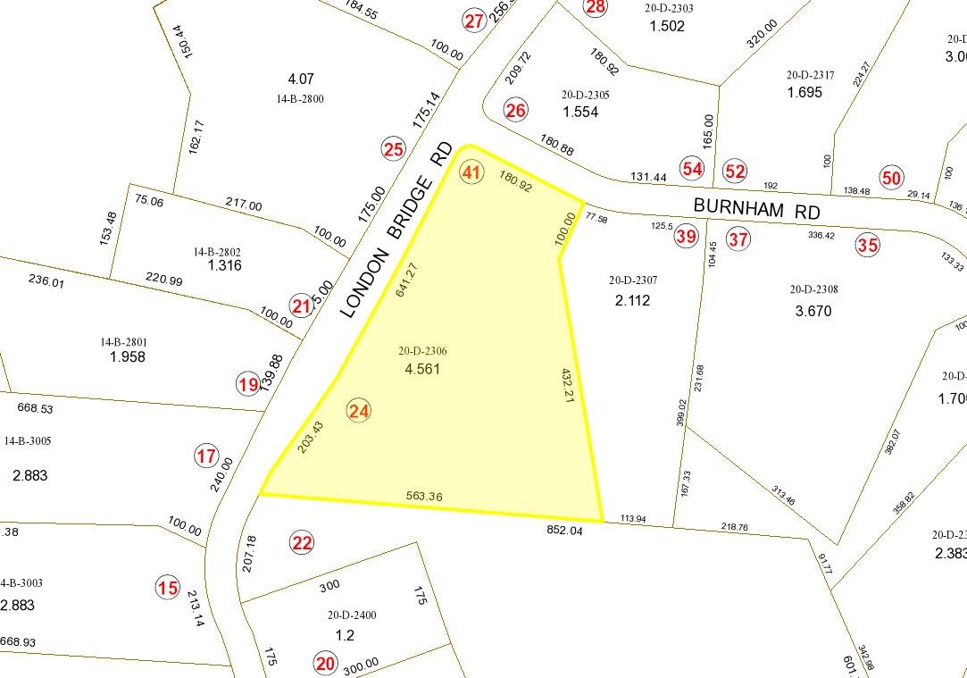 41 Burnham plot plan
