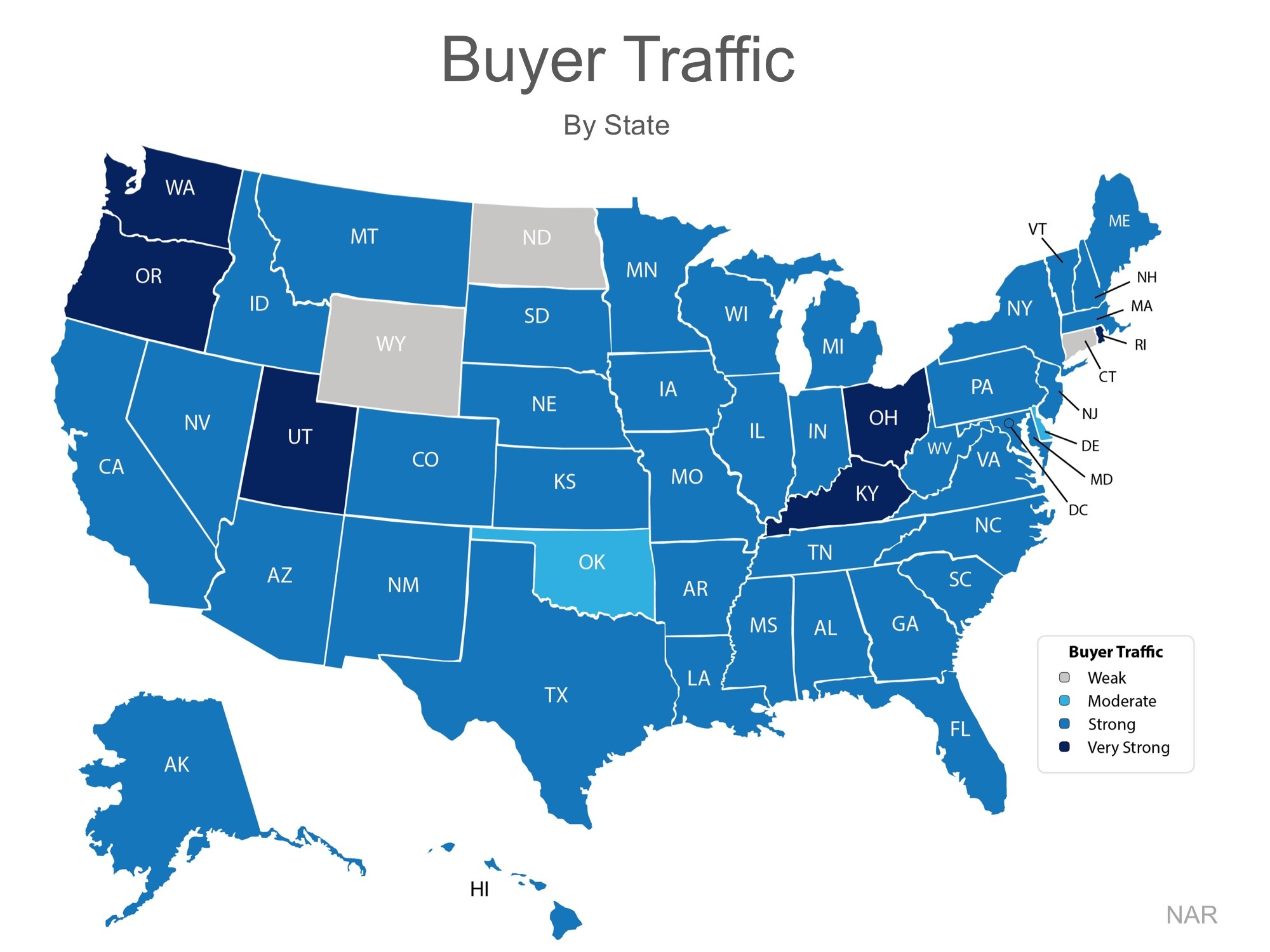 Buyer traffic by state Oct 4 2016 post