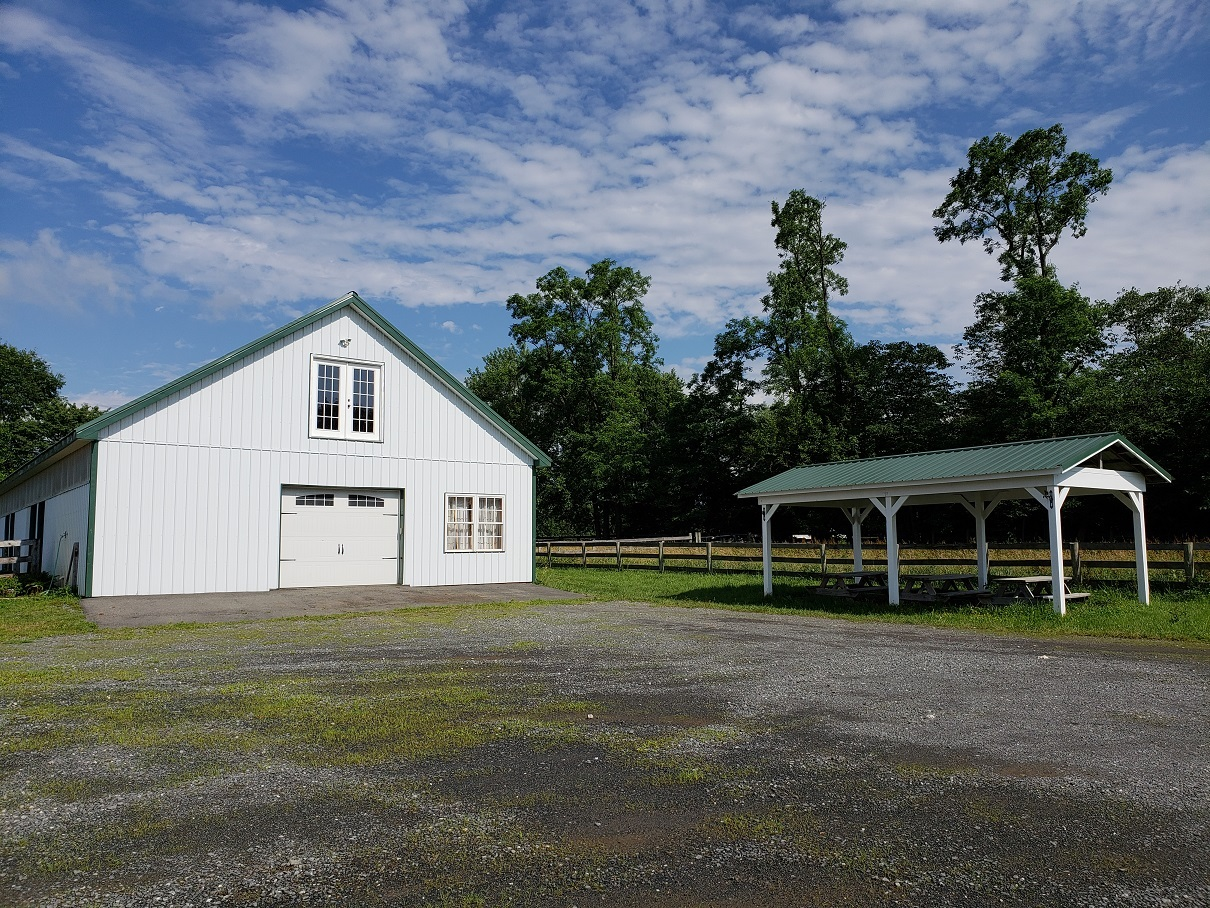 Working Barn with Covered Tables