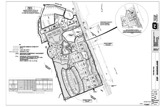 Marineland site plan from Centex