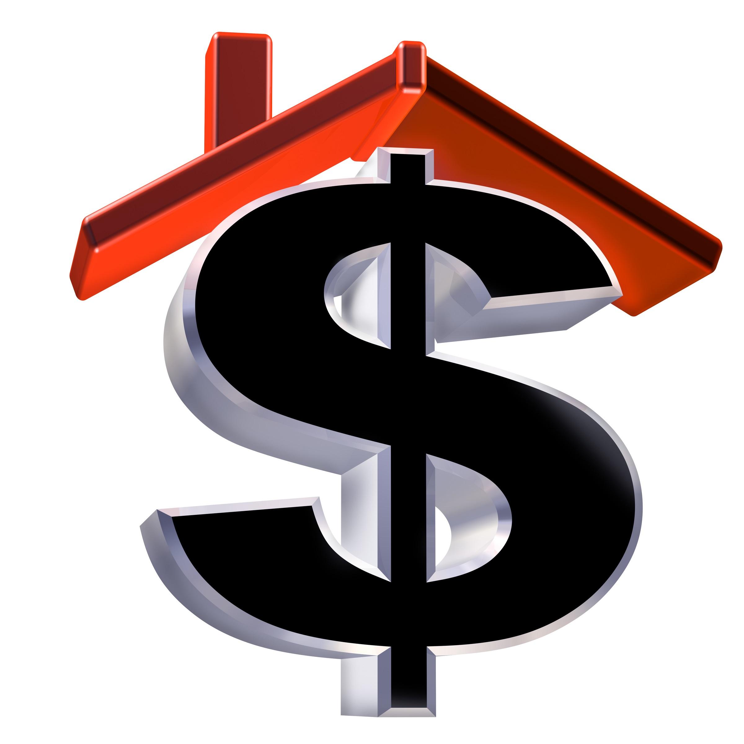 House and money symbol