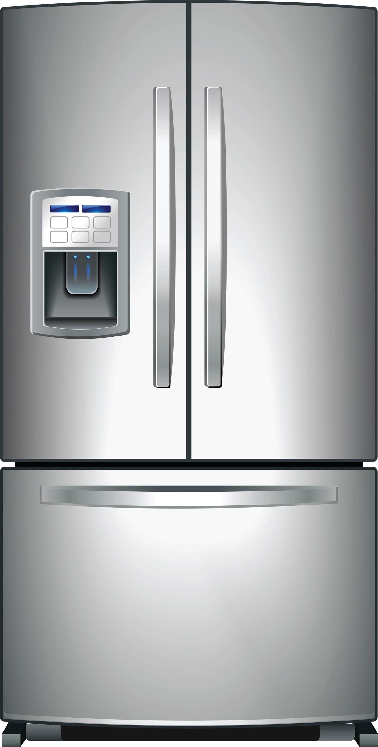 stainless fridge