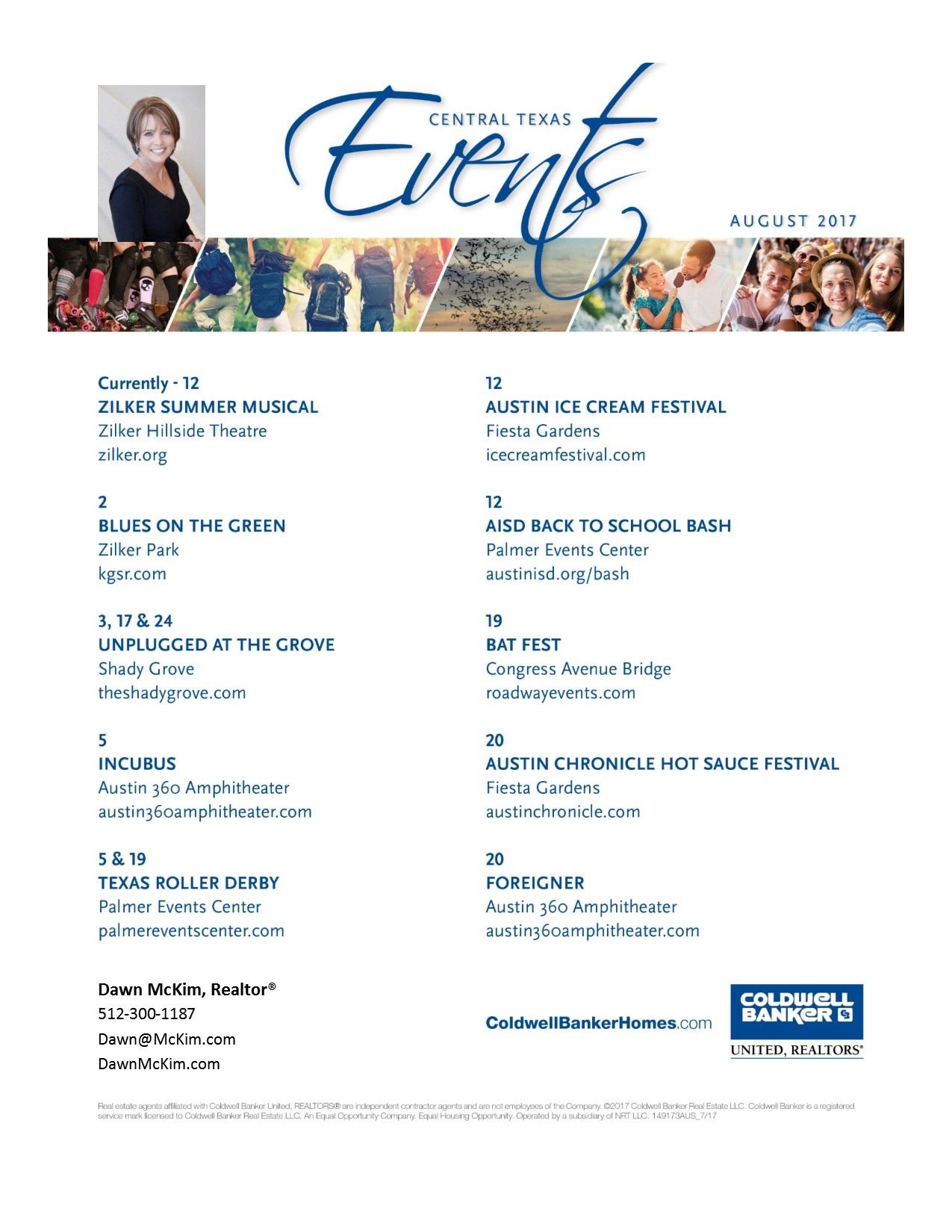 McKim - August - Calendar of Events