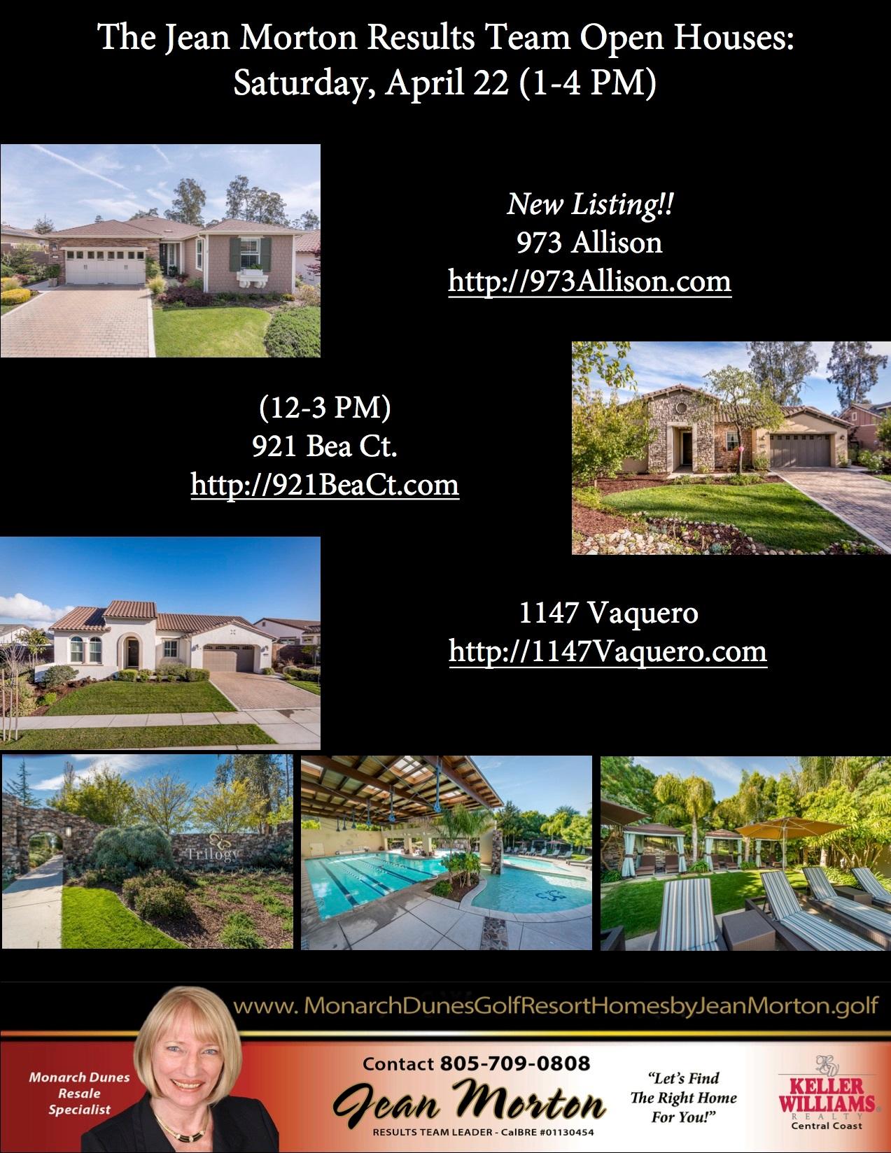 Open Houses April 22