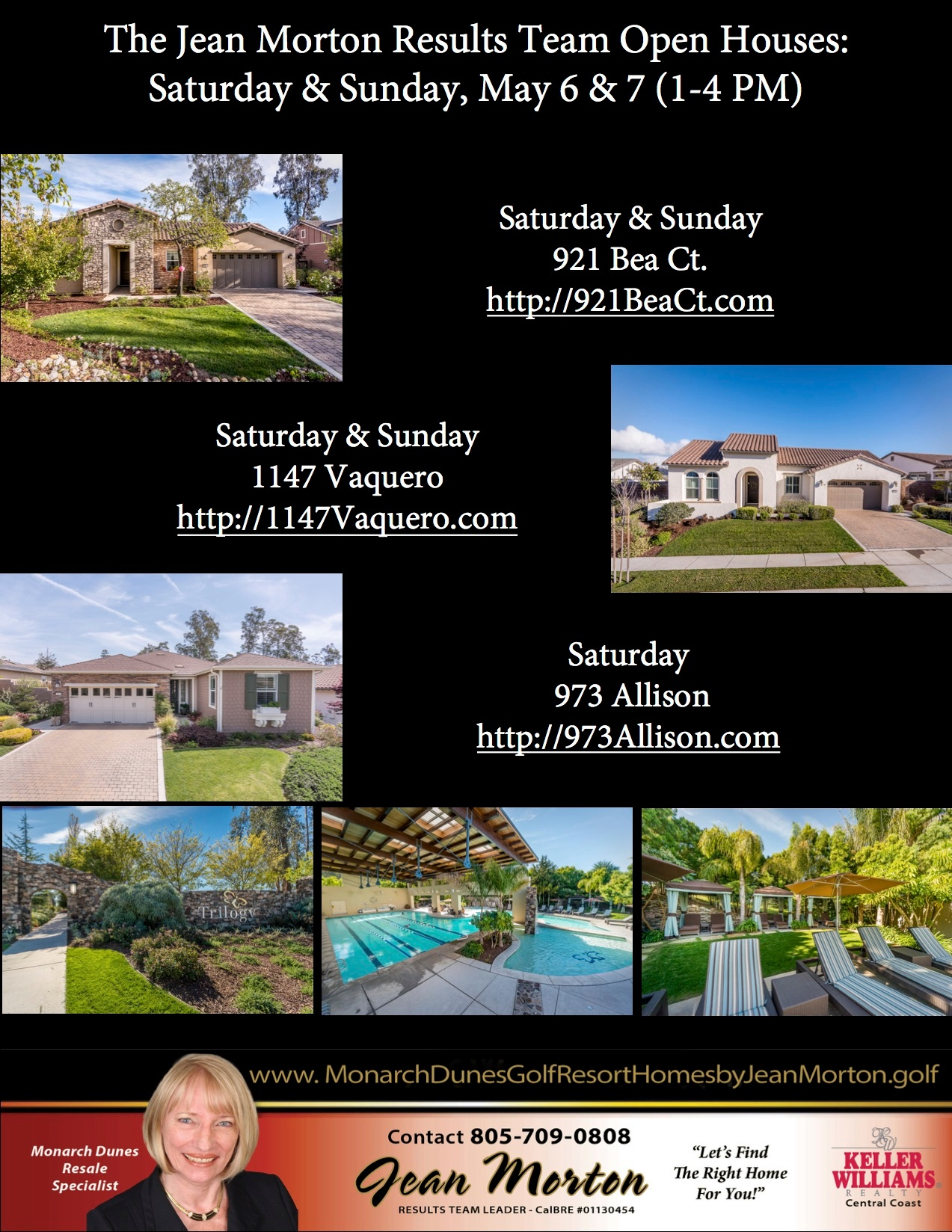 Open Houses May 6 & 7