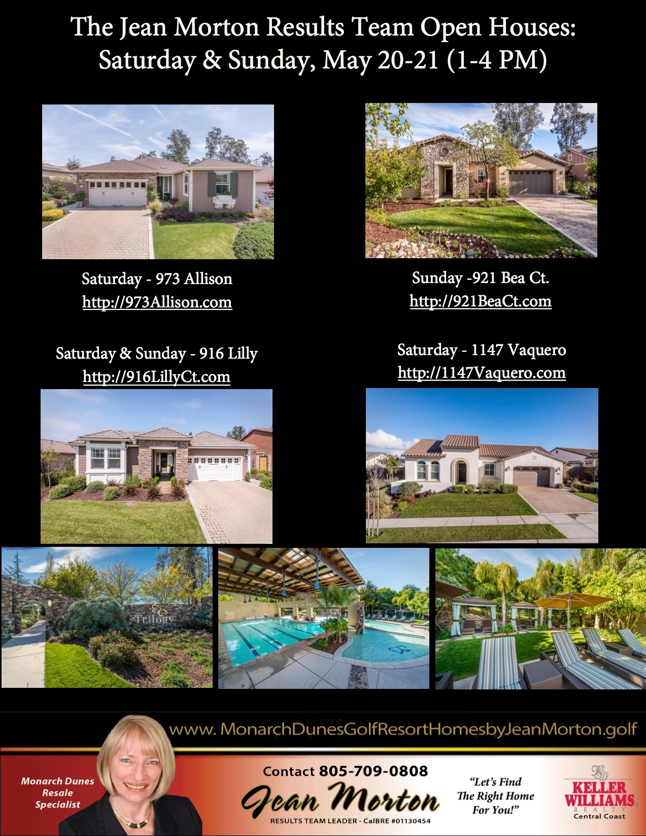 Open Houses May 20-21