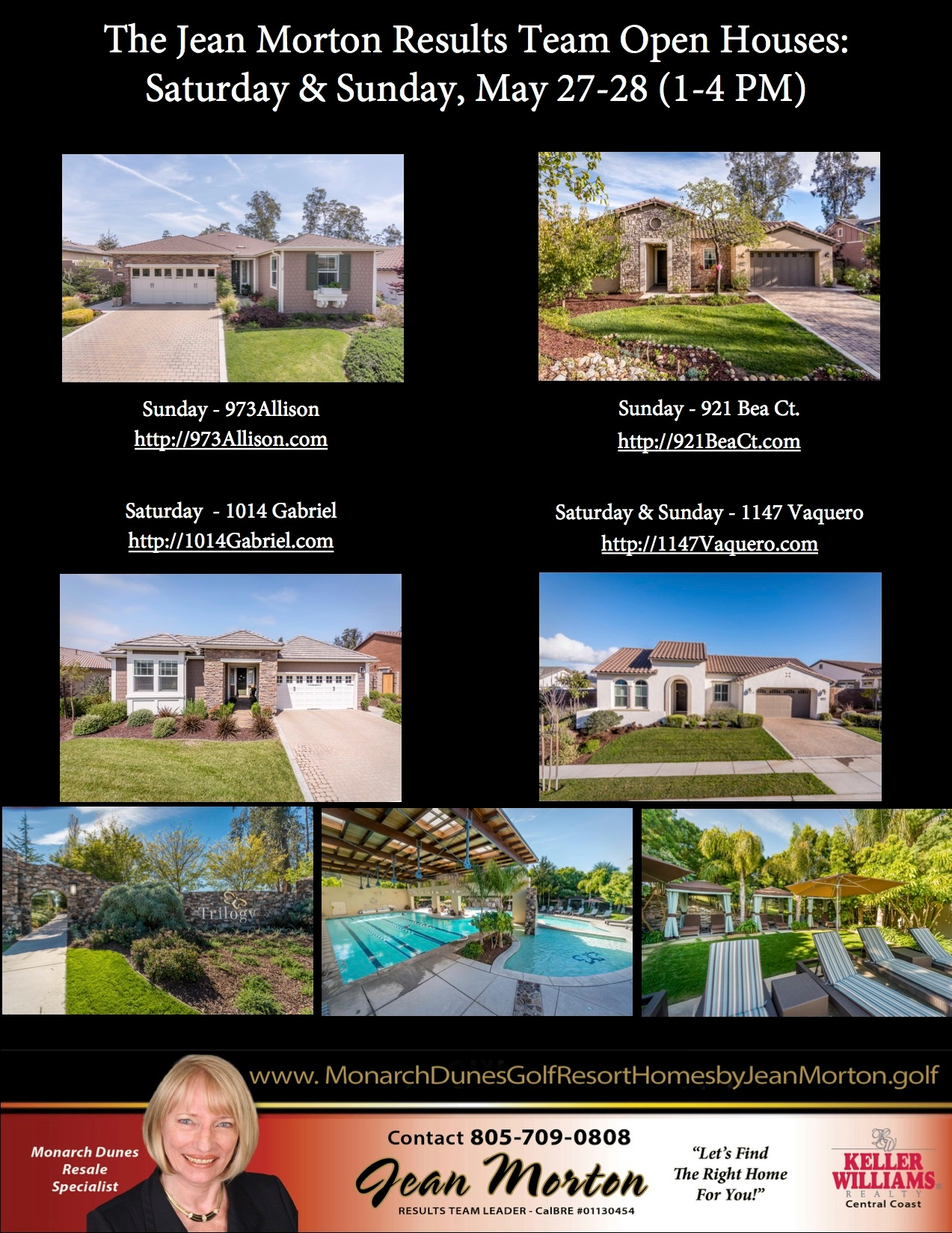 Open Houses May 27-28