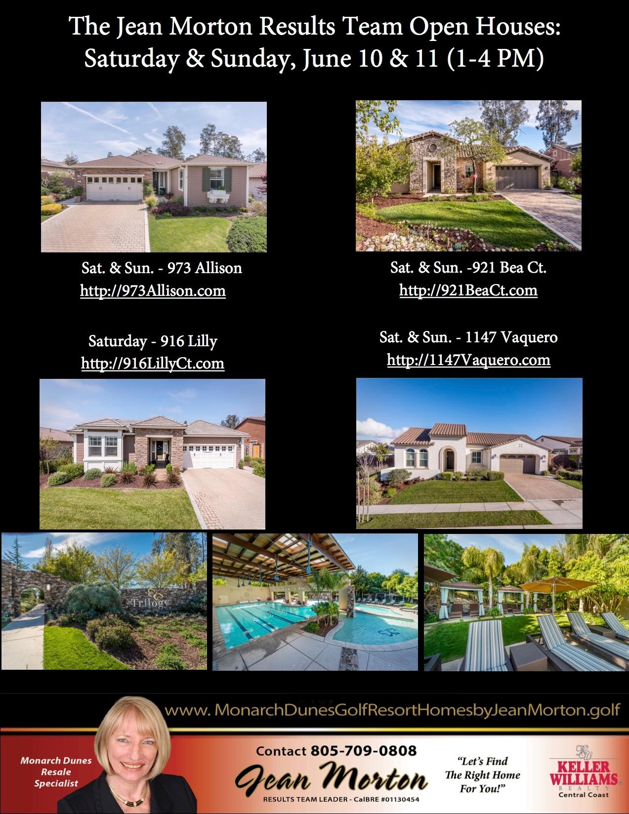 Open Houses June 10-11