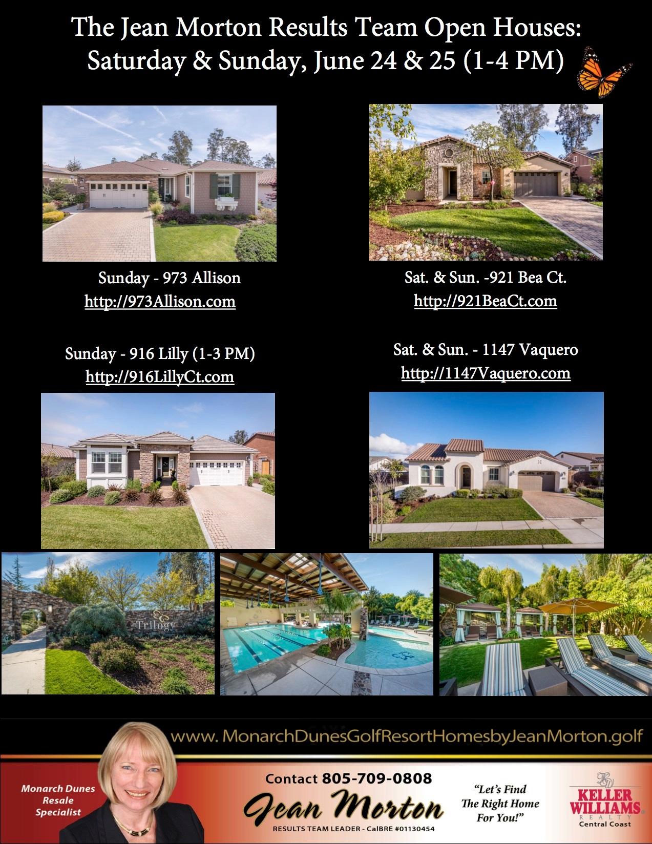 Open Houses June 24-25