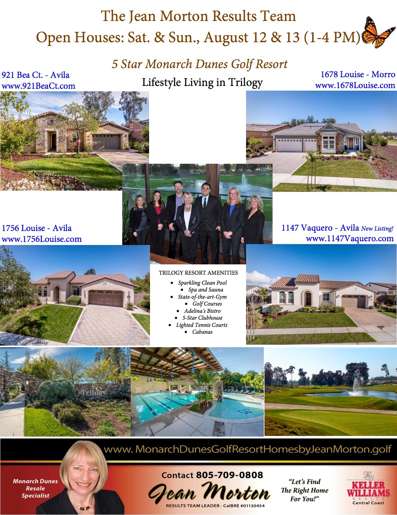 Open Houses August 12 & 13