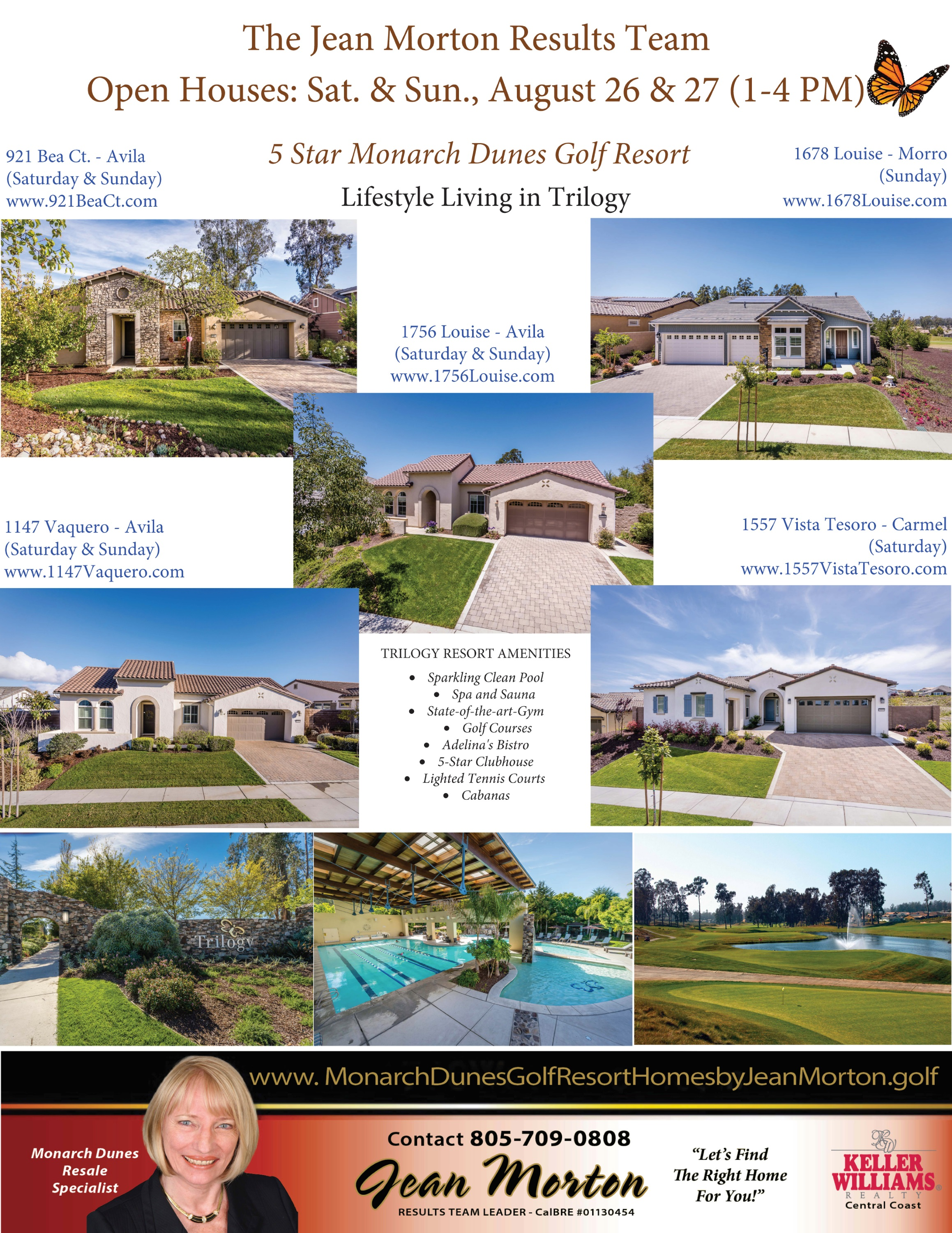 Open Houses August 26 - 27