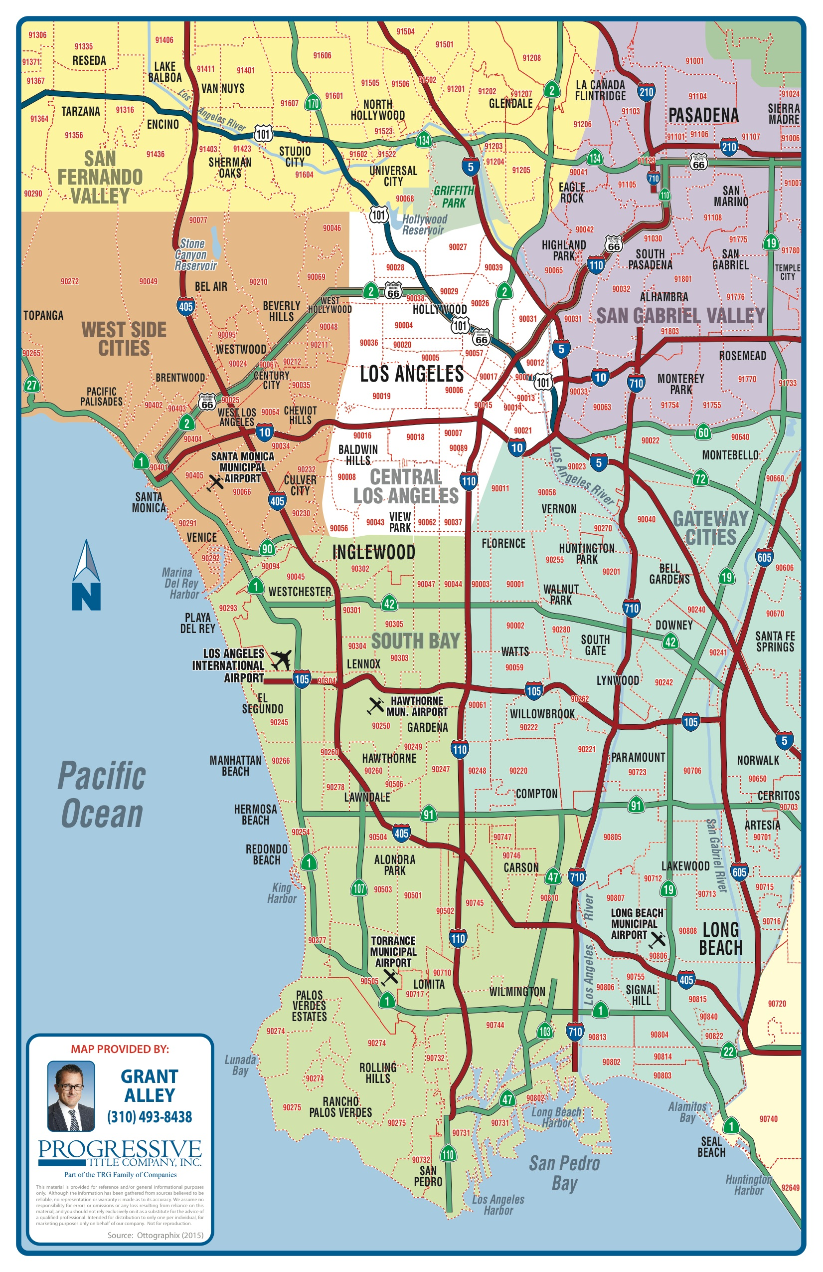 Los Angeles South Bay and surrounding areas map