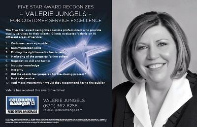 Valerie Jungels 5 Star Award