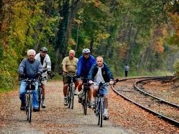 rail trail bikers