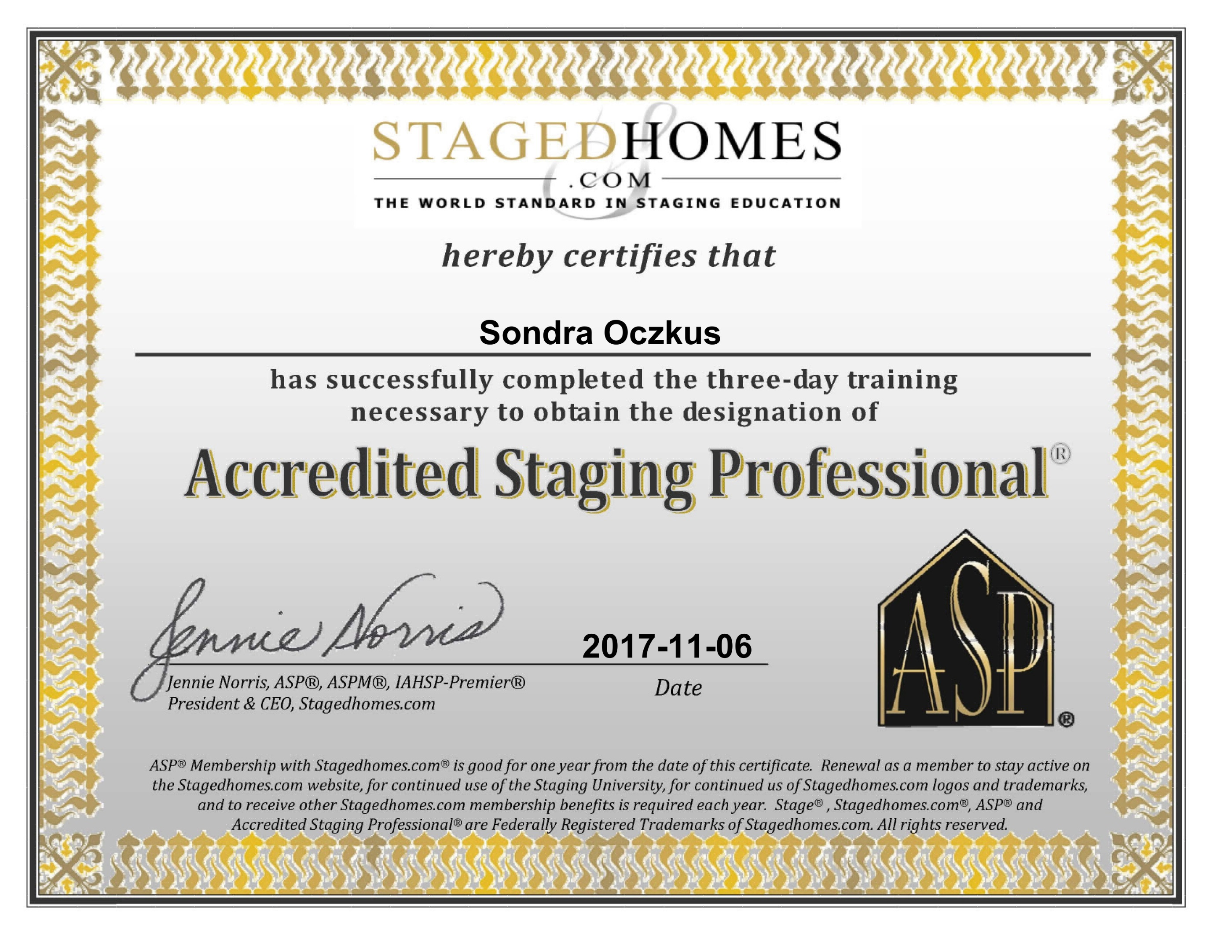 staging certificate two