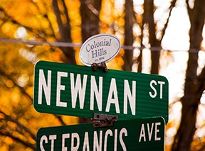 COLONIAL HILLS SIGN-1