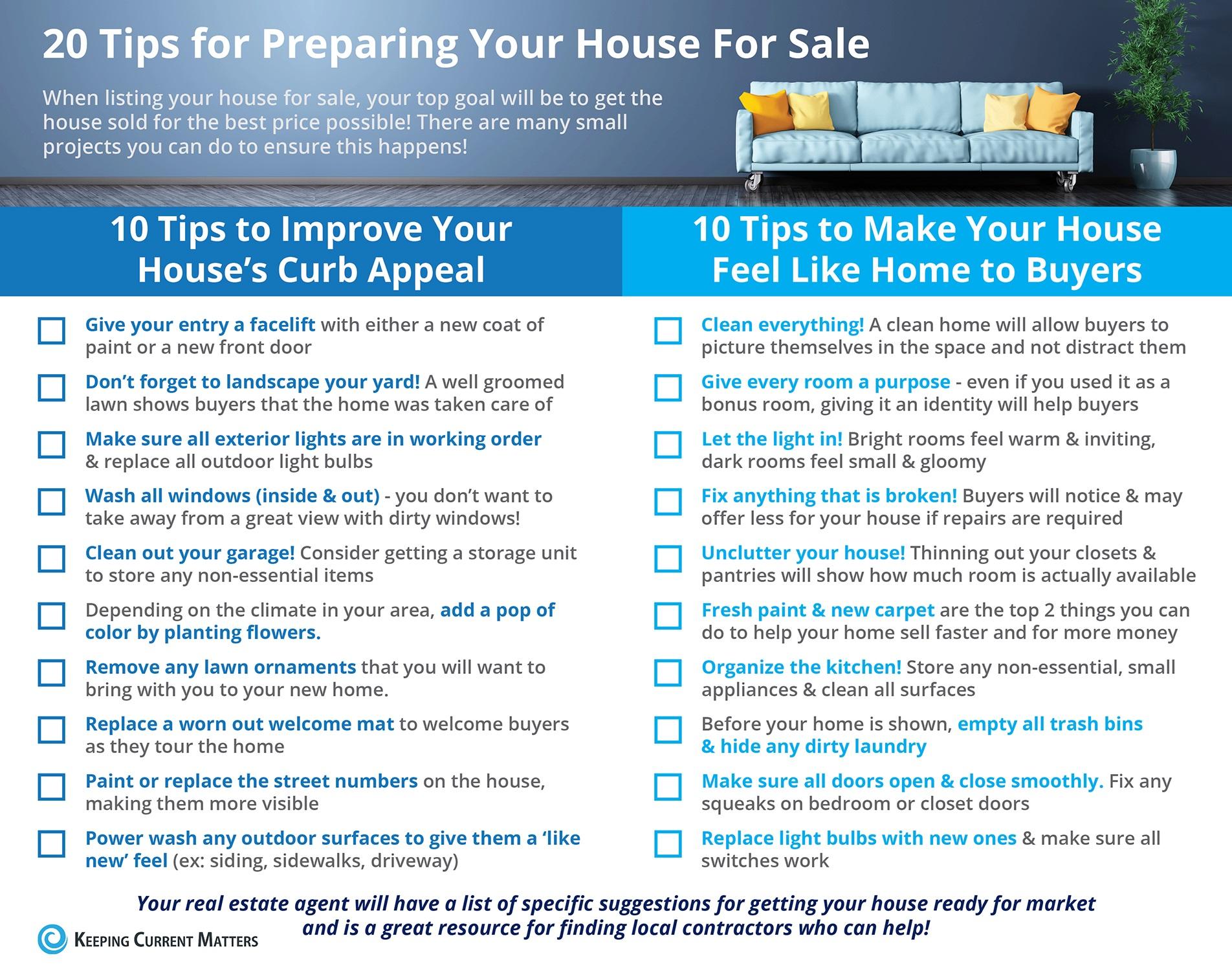 20 tips for spring sale prep