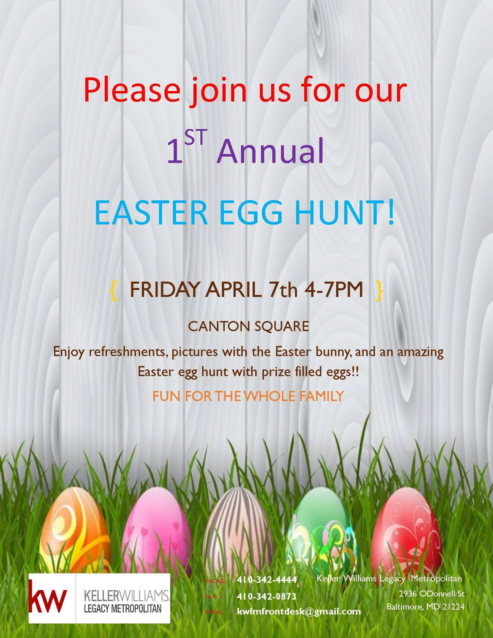 Easter Egg Hunt Keller Williams Legacy Metropolitan