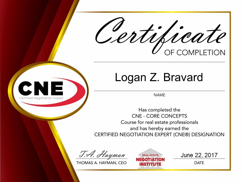 CNE1 Certificate 2017