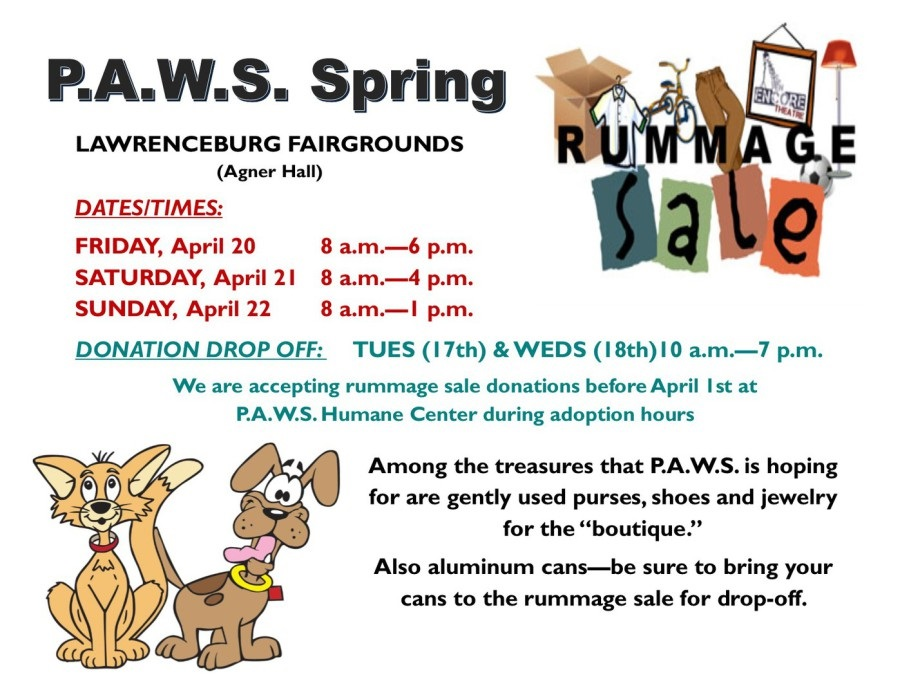 PAWS Rummage Sale