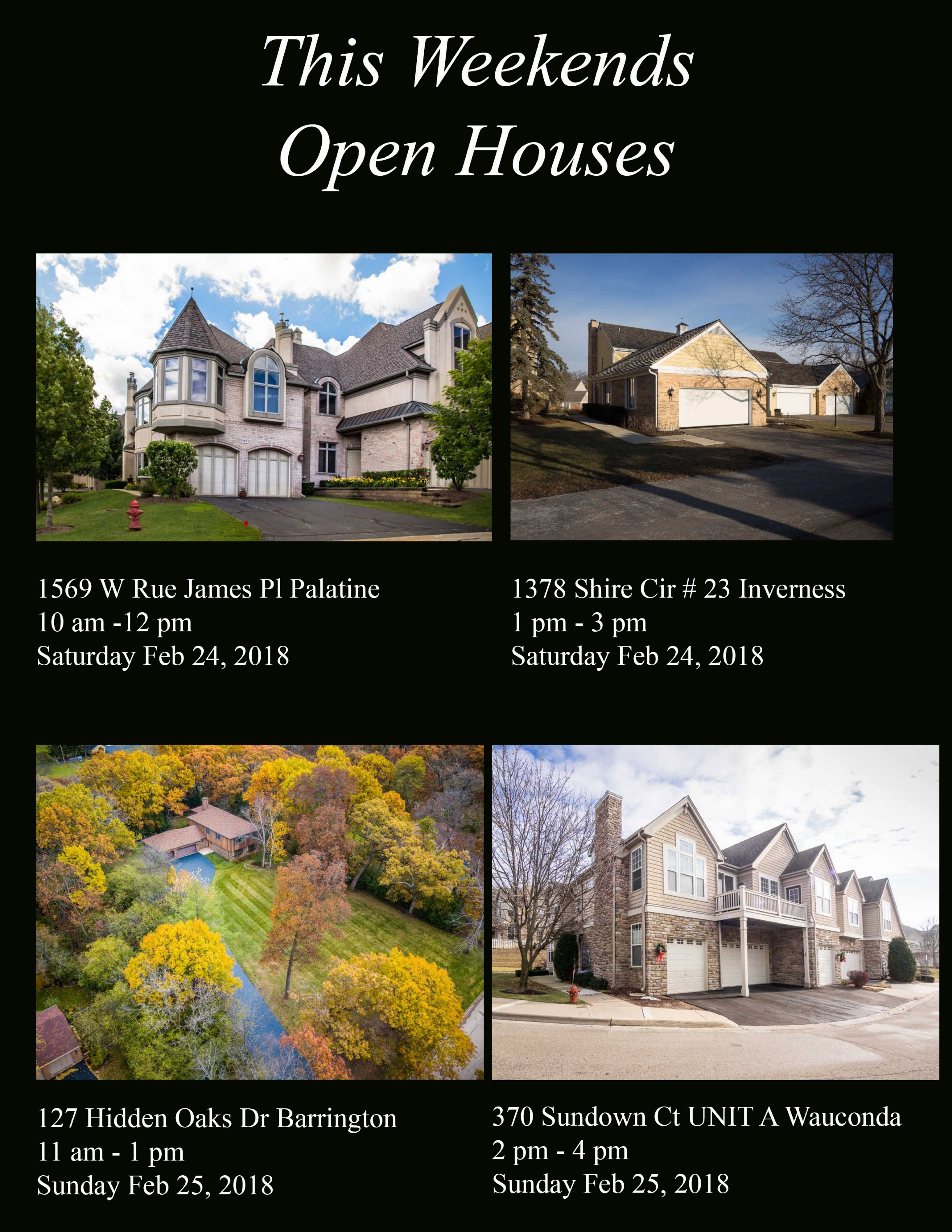 This Weekends Open Houses