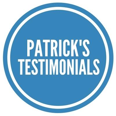 Patrick's Testimonials