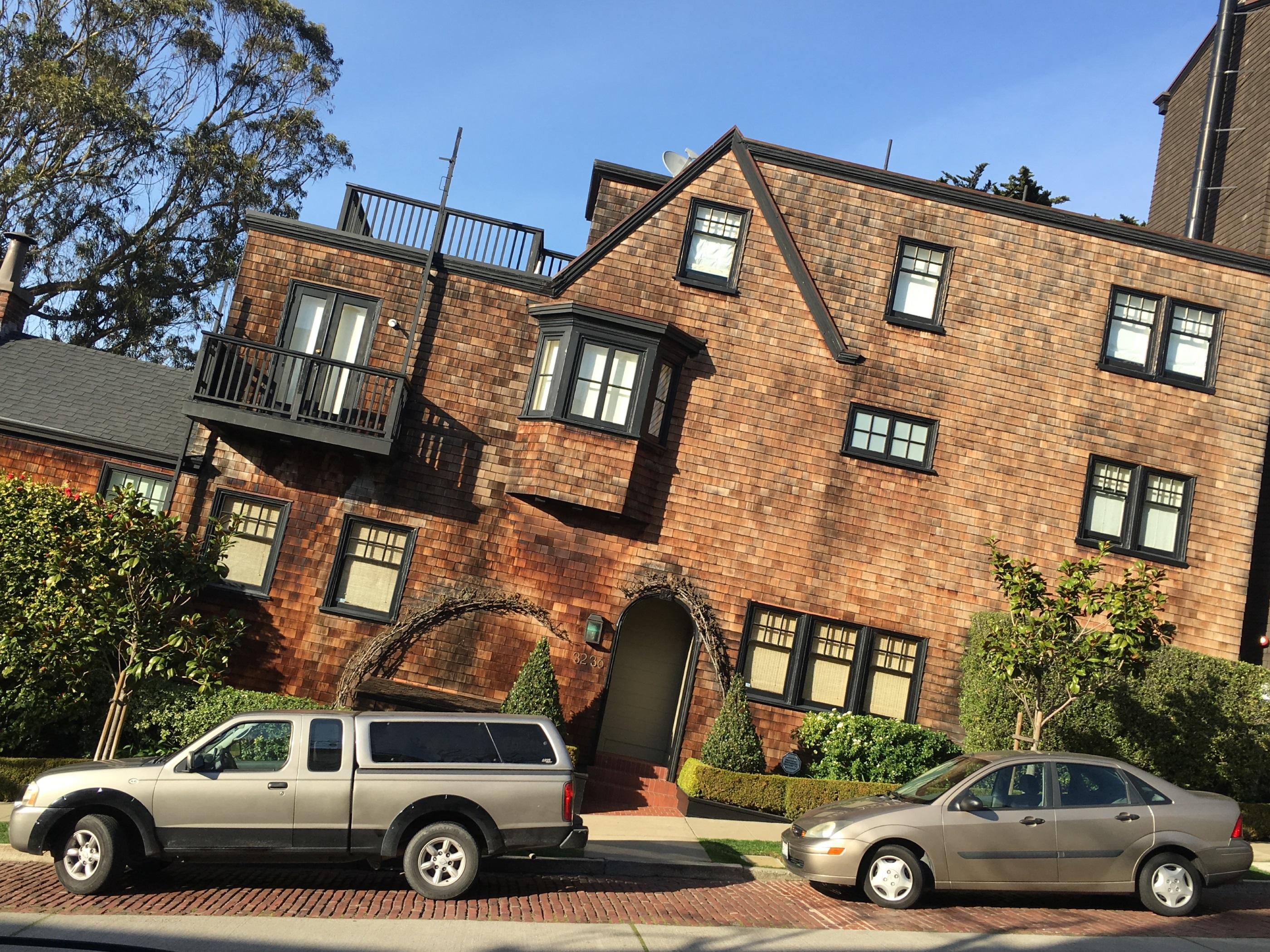 slanted house