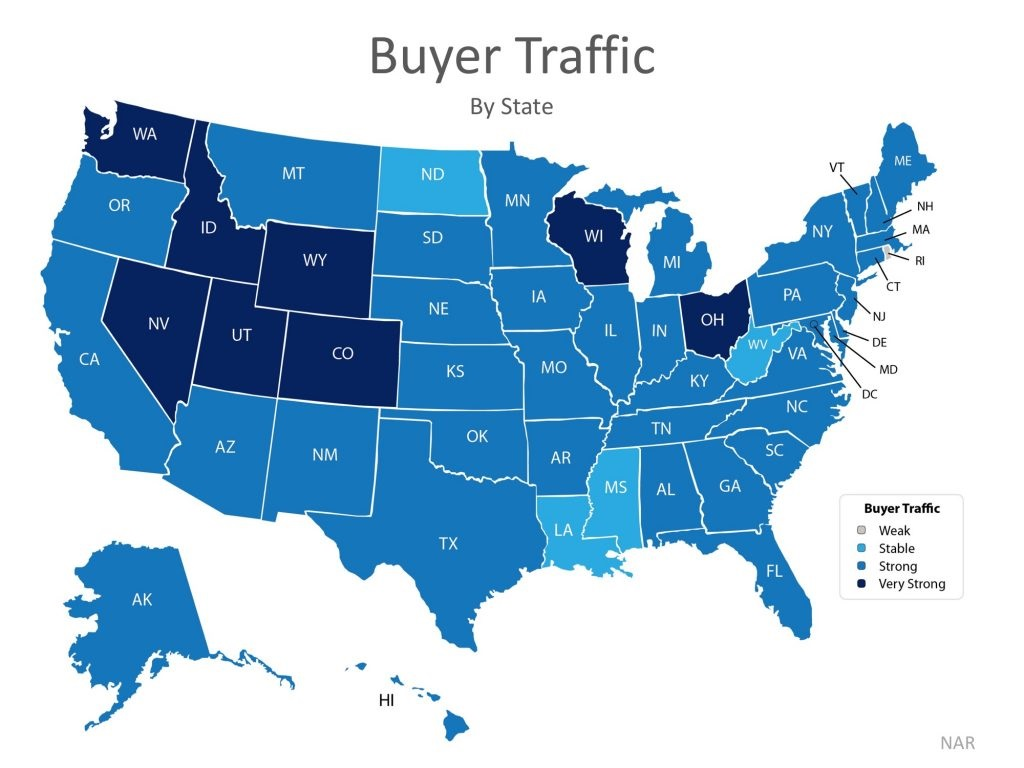 Buyer Demand Still Outpacing the Supply of Homes for Sale Map 1