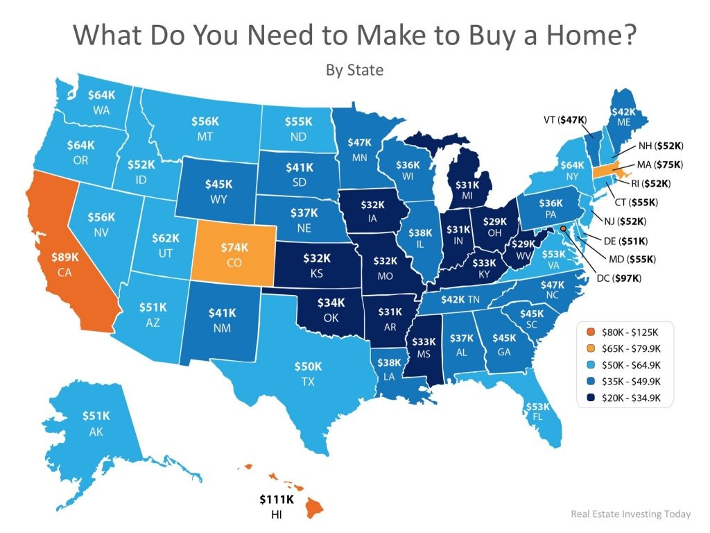 How Much Do You Need to Make to Buy a Home in Your State Graph