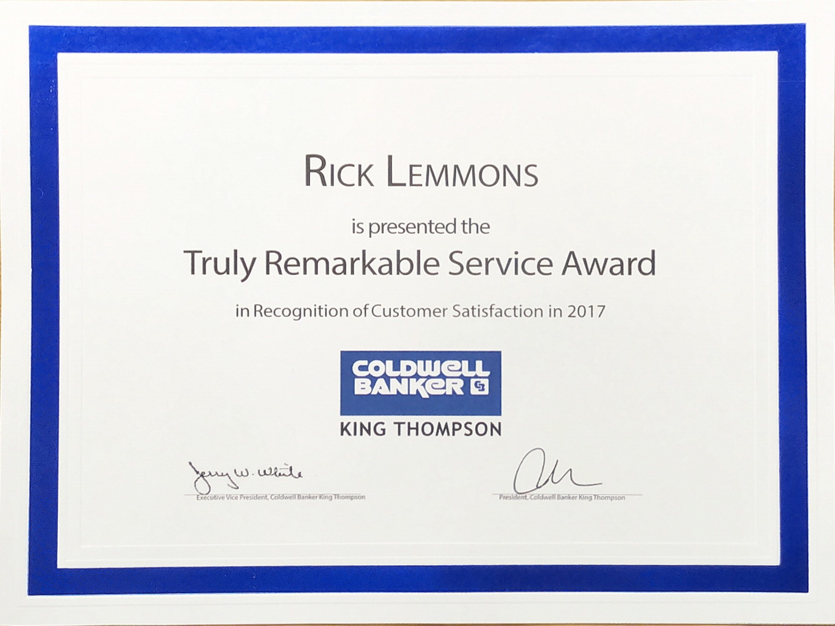 2017 Truly Remarkable Service