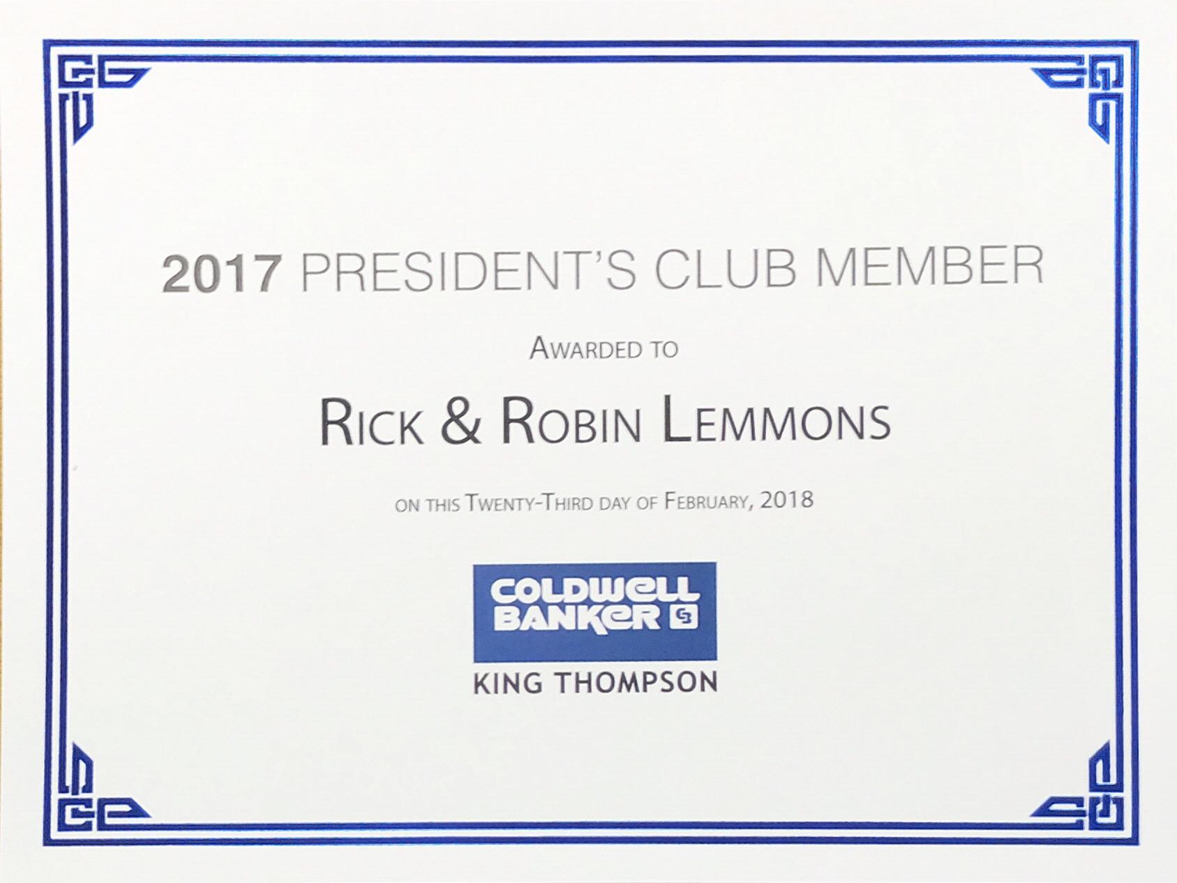 2017 President's Club