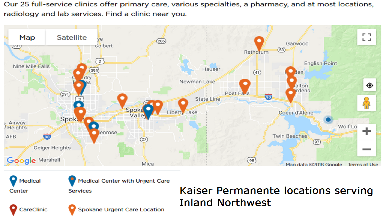 Can I get Kaiser Permanente in North Idaho? Kaiser Permanente Locations Map on adventist health location map, hca location map, chubb location map, stanford university location map, cleveland clinic location map, kaiser hospital roseville ca map, google location map, pfizer location map, humana location map, healthsouth location map, yale university location map, marriott location map, aetna location map, key bank location map, baylor university location map, bechtel location map, cigna location map, staples location map, kaiser sunnyside campus map, chevron location map,