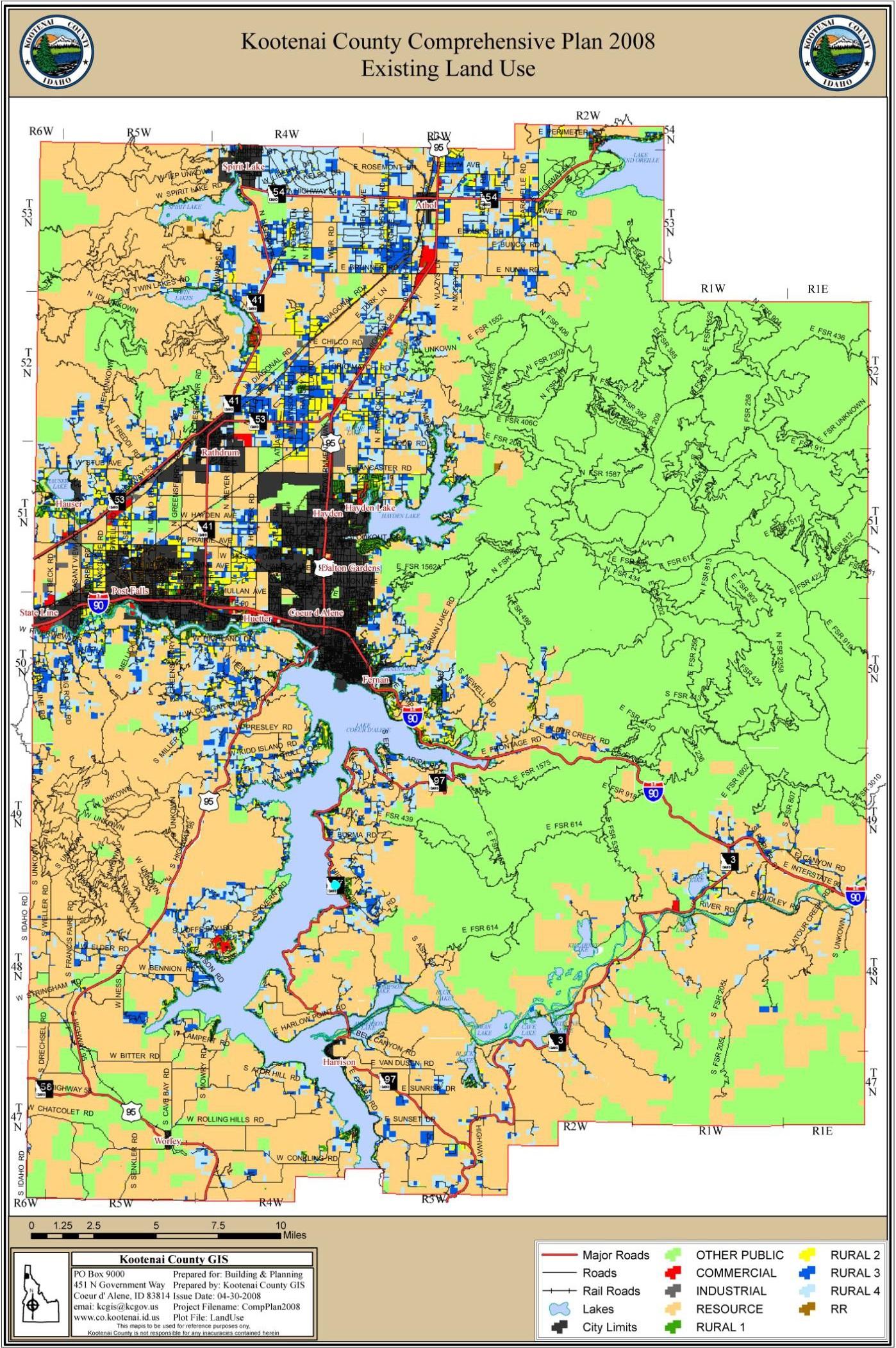 Kootenai County Land use map