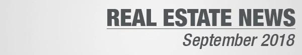 Real Estate News September 2018