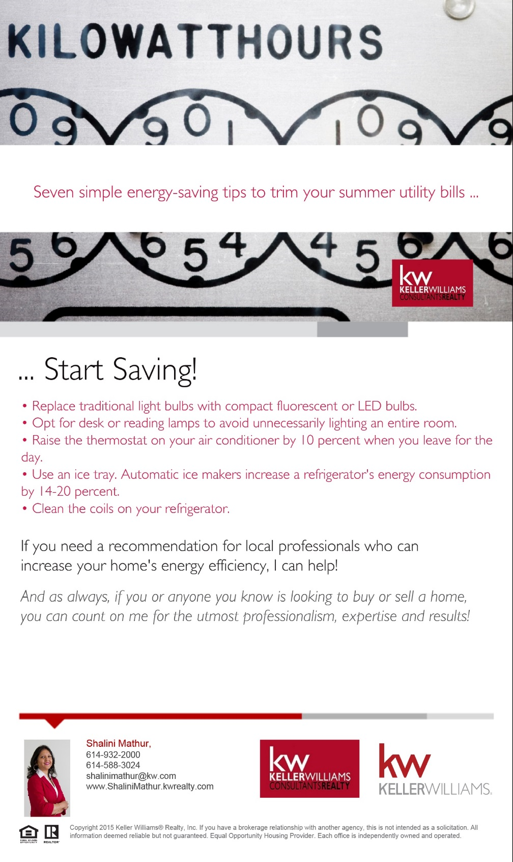 Seven Simple Energy - Saving Tips
