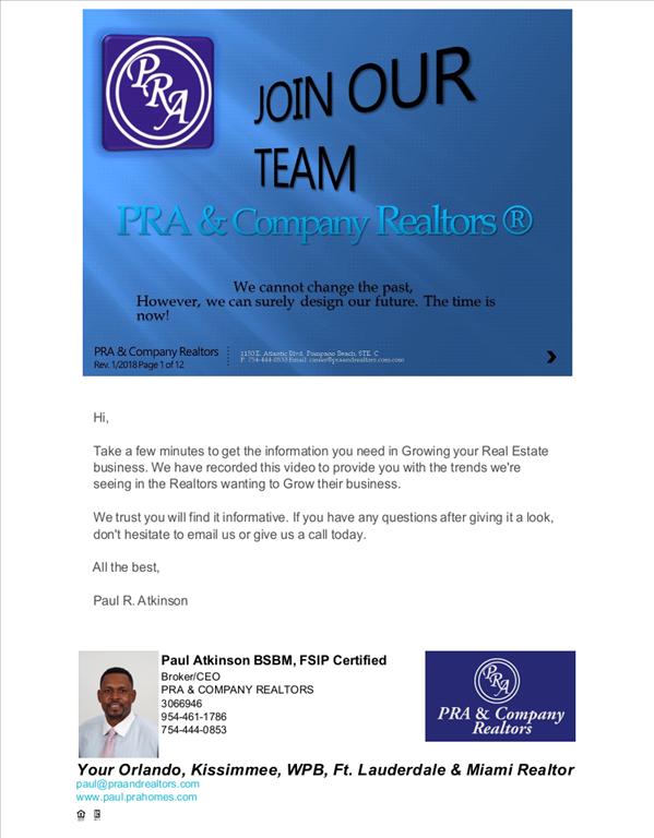 PRA & COMPANY REALTORS - Hiring a New  Real Estate Associates