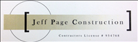 Jeff Page Construction Logo