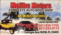 Malibu Motors Body Shop Logo