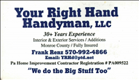 Your Right Hand Man Logo