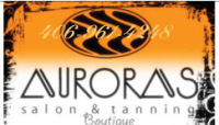 Auroras Salon and Tanning Logo