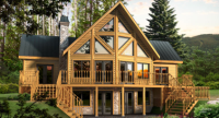 Timber Block Log Homes Logo