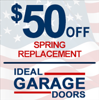 Ideal Garage Door Service Logo