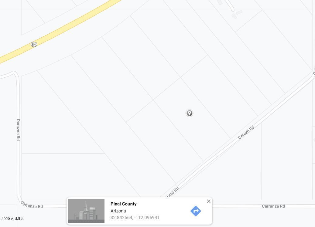 Photo for 0 N Cerezo Road, Maricopa, AZ 85138 (MLS # 6116463)