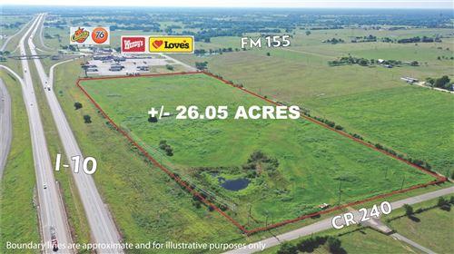 Photo of TBD (26 Acres)  I-10, Weimar, TX 78962 (MLS # 9268432)