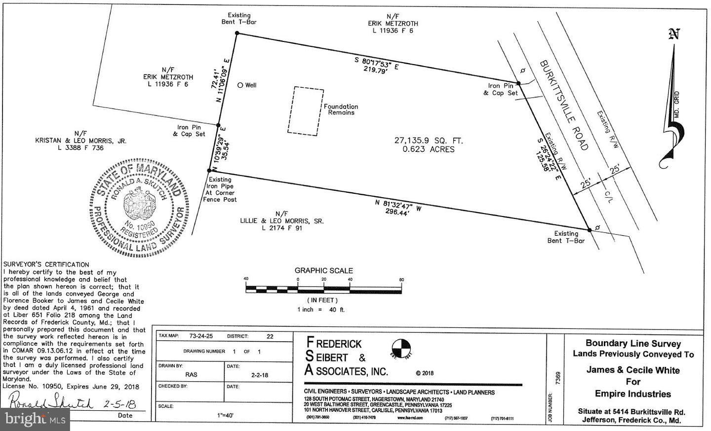 Photo of 5414 BURKITTSVILLE RD, JEFFERSON, MD 21755 (MLS # MDFR283630)