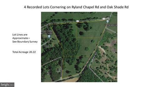 Photo of OAK SHADE AND RYLAND CHAPEL RD, JEFFERSONTON, VA 22724 (MLS # VACU140802)